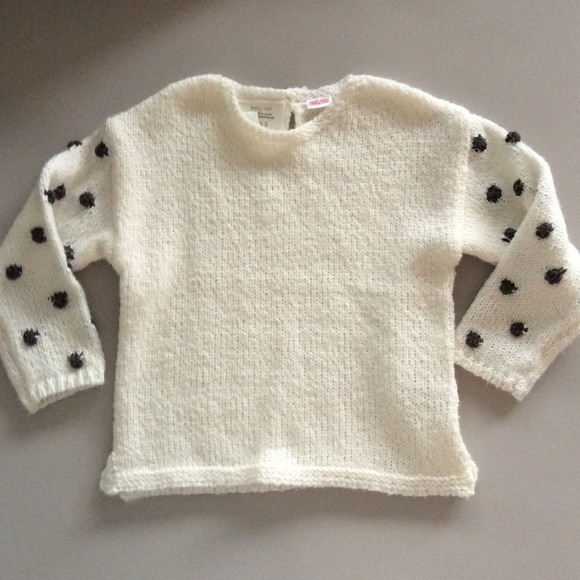 3bc2bc38 Zara Shirts & Tops | New Baby Toddler Knit With Dot Sleeves 1824m ...